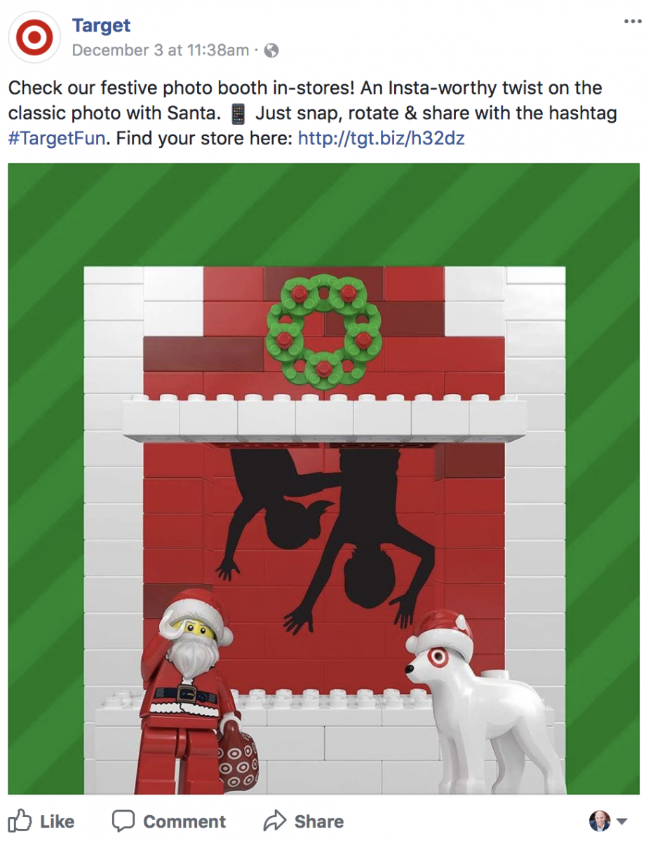 target holiday post